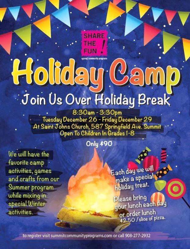 Holiday camp flyer 2017
