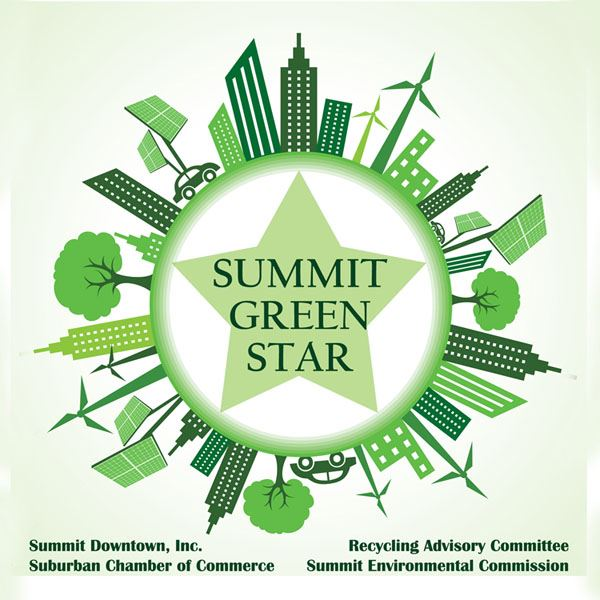 Summit Green Star Window Cling
